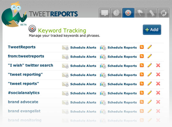 Intuitive Keyword Tracking Interface