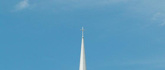 Church Steeple against clue sky