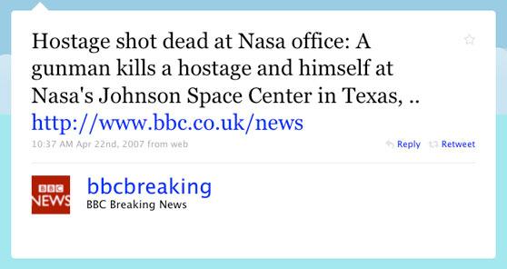 BBC First Twitter Message