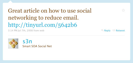 IBM First Twitter Message