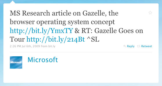 Microsoft First Tweet