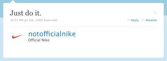 Nike First Offical Tweet