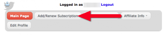 Click Add/renew Subscription button